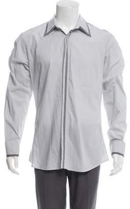 Alexander McQueen Woven Striped Shirt