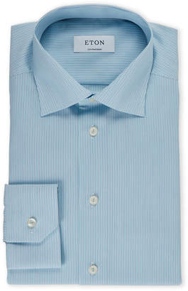 Eton Stripe Blue Contemporary Fit Dress Shirt