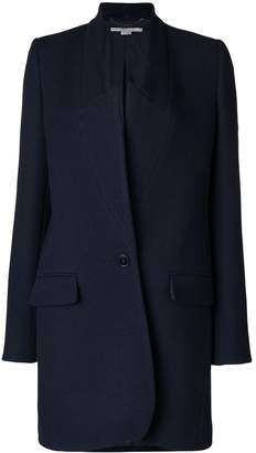 Stella McCartney collarless wrap coat