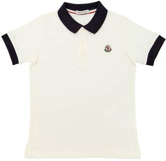 Moncler Cotton Piqué Polo Shirt