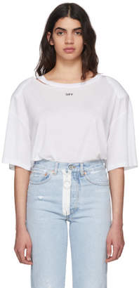 Off-White Off White White Fern Shoulder Pad T-Shirt