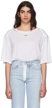 Off-White White Fern Shoulder Pad T-Shirt