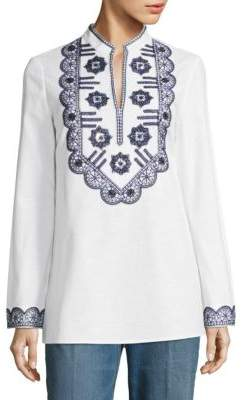 Tory Burch Tory Embroidered Tunic