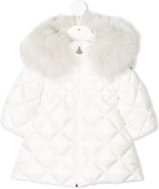 Moncler fur trim hood quilted coat