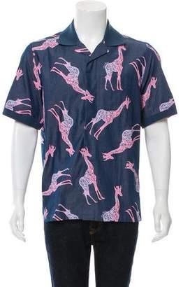Louis Vuitton Chapman Brothers Giraffe Print Shirt w/ Tags