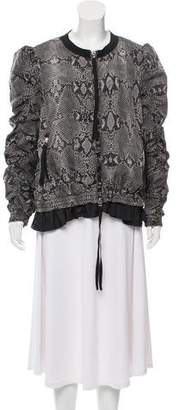 Moncler Printed Hanaye Bomber Jacket