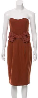 By Malene Birger Wool Strapless Mini Dress