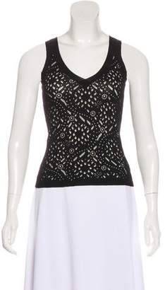 John Galliano Sleeveless Wool Top