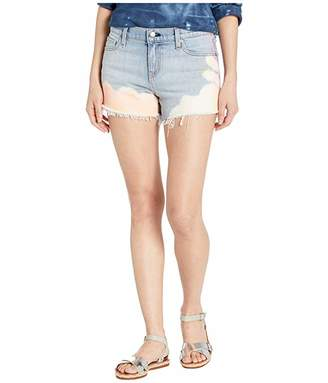 Hudson Jeans Gemma Mid-Rise Cut Off Jean Shorts in Neutralize