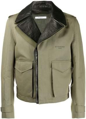 Givenchy layered biker jacket