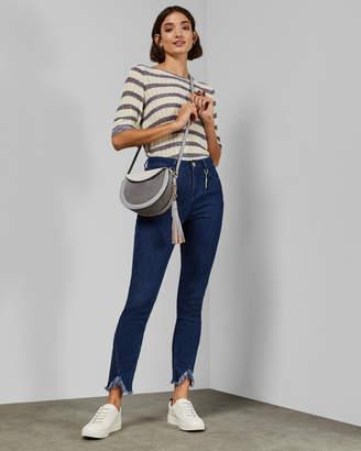 Ted Baker GAYNOR Frayed hem mom jeans