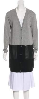 Lafayette 148 V-Neck Button-Up Cardigan