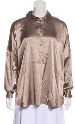 0039 Italy Silk Long Sleeve Top