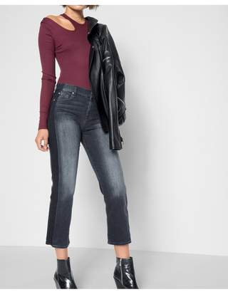 7 For All Mankind Kiki With Shadow Side Seam In Vintage Noir