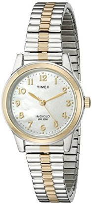 Timex® Women's Classic Two-Tone Expansion Band Watch #T2M828 $59.95 thestylecure.com