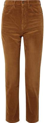 Saint Laurent Cotton-corduroy Straight-leg Pants - Tan