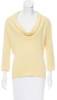 Lanvin Knit Cowl Neck Sweater