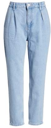Topshop Pleated Mom Jeans