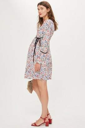 Topshop Maternity Wrap Mini Dress