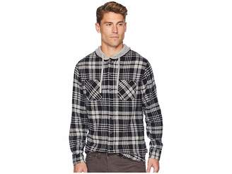 UNIONBAY Switchback Flannel Hoodie Men's Sweatshirt