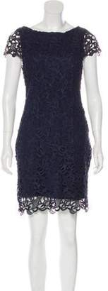 Alice + Olivia Mini Lace Dress silver Mini Lace Dress