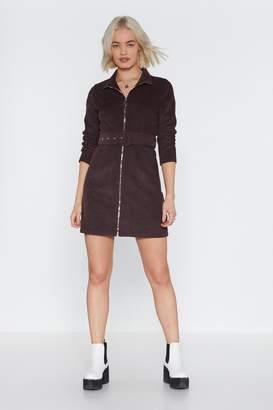 Nasty Gal Hop Zip and Jump Corduroy Mini Dress