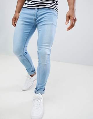 Soul Star Skinny Fit Jeans in Light Blue Wash