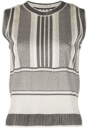 Pleats Please Issey Miyake sleeveless striped top