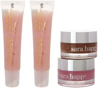 Sara Happ Holiday Set of 2 Lip Scrubs & 2 Lip Slip Tubes