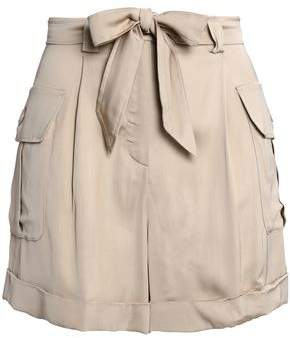 Moschino Belted Satin Shorts