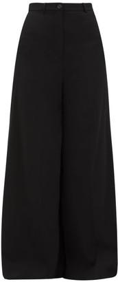 Vetements Wide Leg Tailored Trousers - Womens - Black