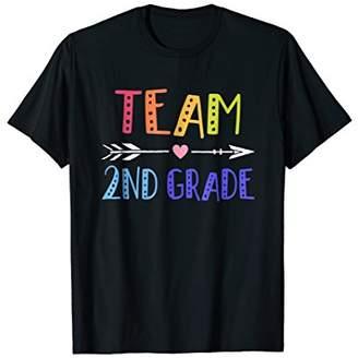 Team 2nd Second Grade Teacher Shirts 1st Day of School