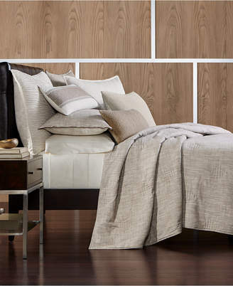 Hotel Collection Pebble Diamond Embroidered King Coverlet, Created for Macy's Bedding