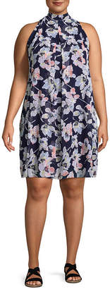 Robbie Bee Sleeveless Floral Sheath Dress - Plus