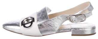 Christian Dior Metallic Leather Flats