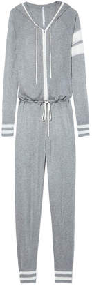 Spiritual Gangster Striped Zip-Up Onesie