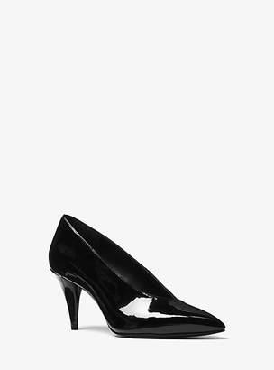 721abfb69fde at Michael Kors · Michael Kors Lizzy Patent Leather Choked Pump