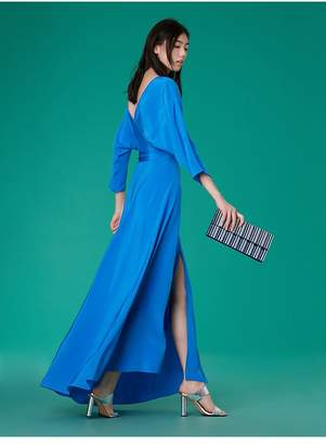 Diane von Furstenberg Long-Sleeve Floor-Length Wrap Dress