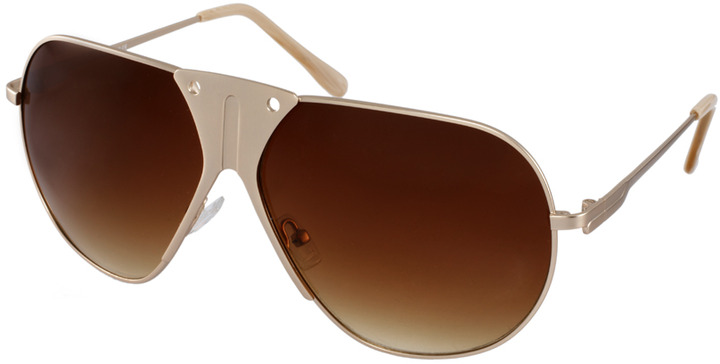 ASOS Premium Mixed Metal Aviator Sunglasses