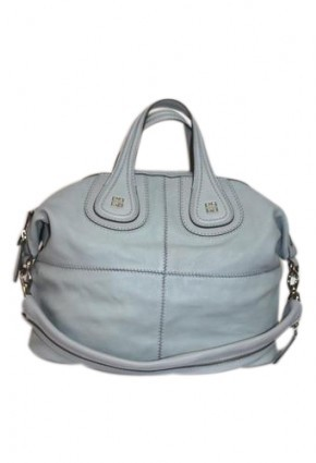 Givenchy pristine (PR Medium Nightingale Grained Leather Pale Blue Hobo Bag