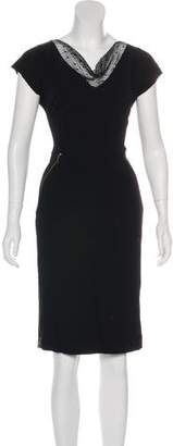 Nina Ricci Zip-Accented Sheath Dress