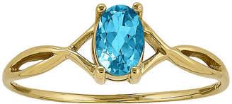 FINE JEWELRY Genuine Swiss Blue Topaz 14K Yellow Gold Ring