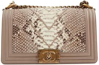 Chanel Boy python crossbody bag