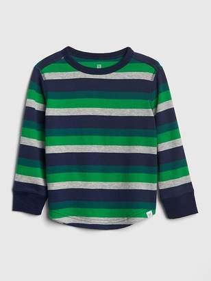 Gap Stripe Textured Long Sleeve T-Shirt