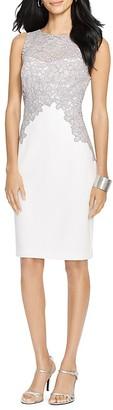 Lauren Ralph Lauren Lace Trim Dress $194 thestylecure.com