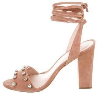Loeffler Randall Embellished Suede Sandals