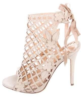 Marchesa Suede Cage Sandals