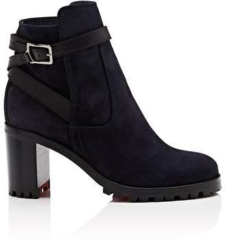 Christian Louboutin Women's Trapeurdekoi Suede Ankle Boots