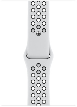 Apple 44mm Pure Platinum/Black NikeSportBand - S/M&M/L