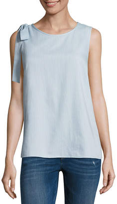 Libby Edelman Sleeveless Bow Shoulder Top